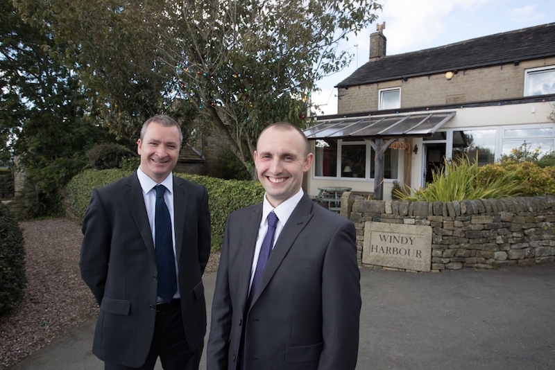 Left to Right Stuart Davies from Royal Bank of Scotland with Lee Johnson Owner of Windy Harbour Farm Hotel