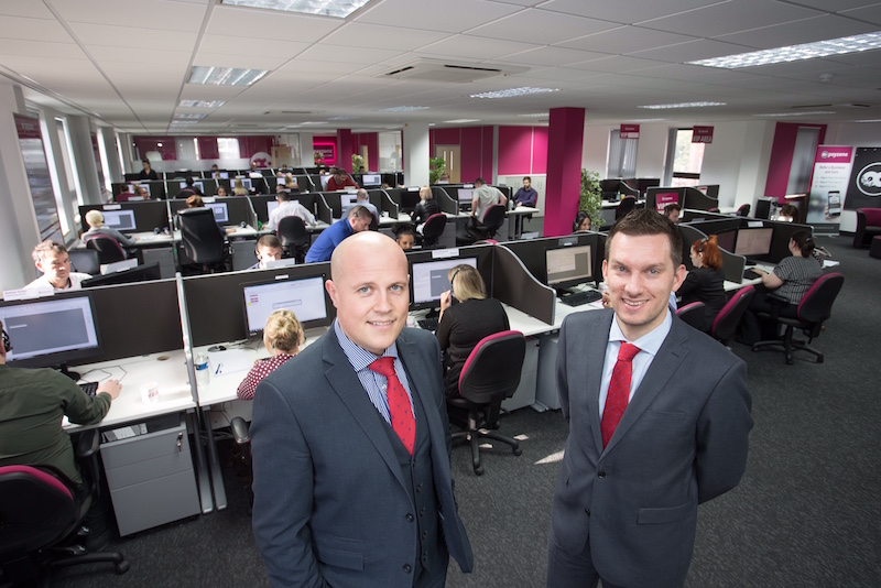 Payzone's Andrew McCann (left) with Rhys Owen from Orbit Developments c
