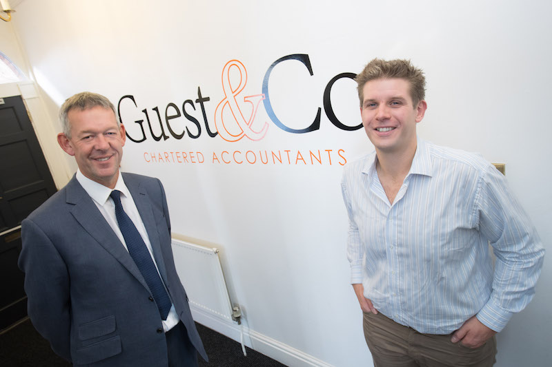 Photo line-up, left to right: Andrew Adshead, Royal Bank of Scotland and Mat Guest, Guest & Company
