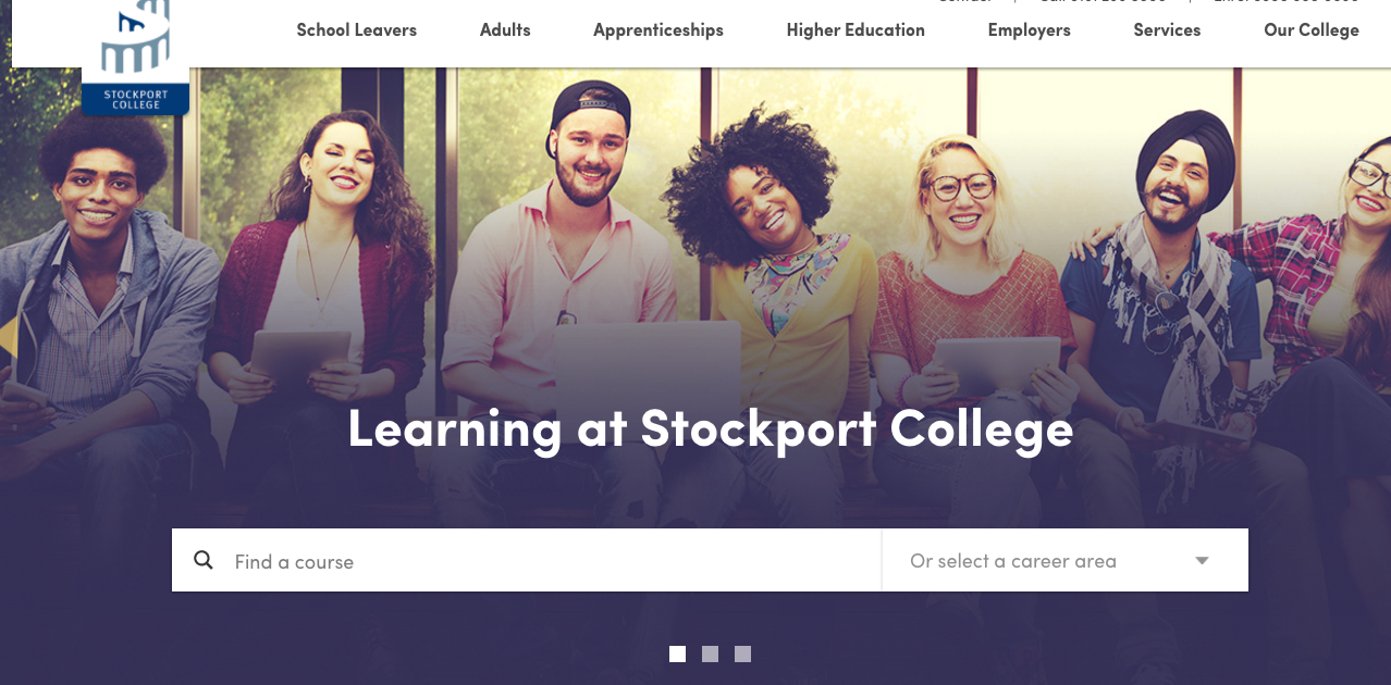 Stockport College website