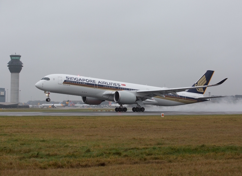 Singapore Airlines A350 UK launch from Manchester