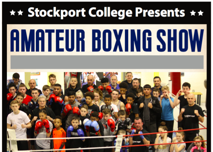 Stockport college amateur boxing show