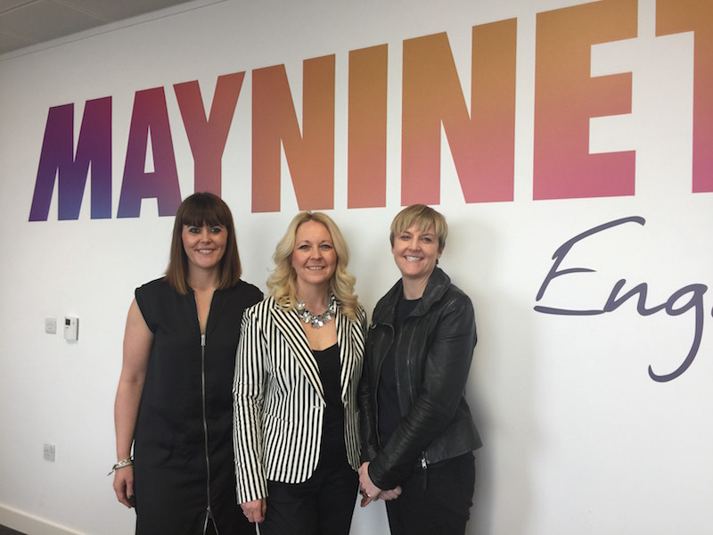 Lynsey Hulme, PinPointer's MD Alison Bowcott-McGrath and Katie Coombes