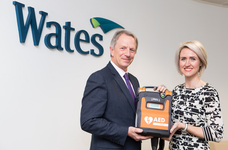 UK property group partners with Stockport defibrillator company