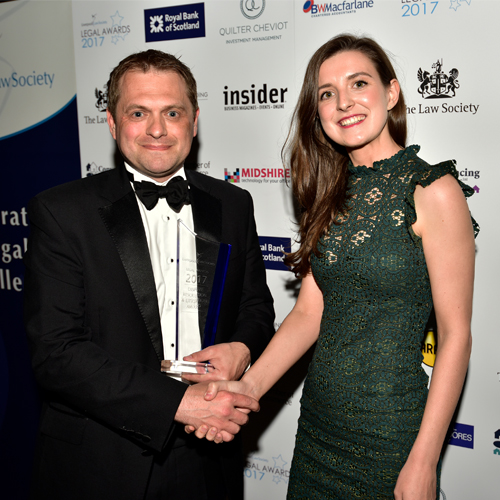 Laura Stafford with Liverpool Legal Society award winners DWF