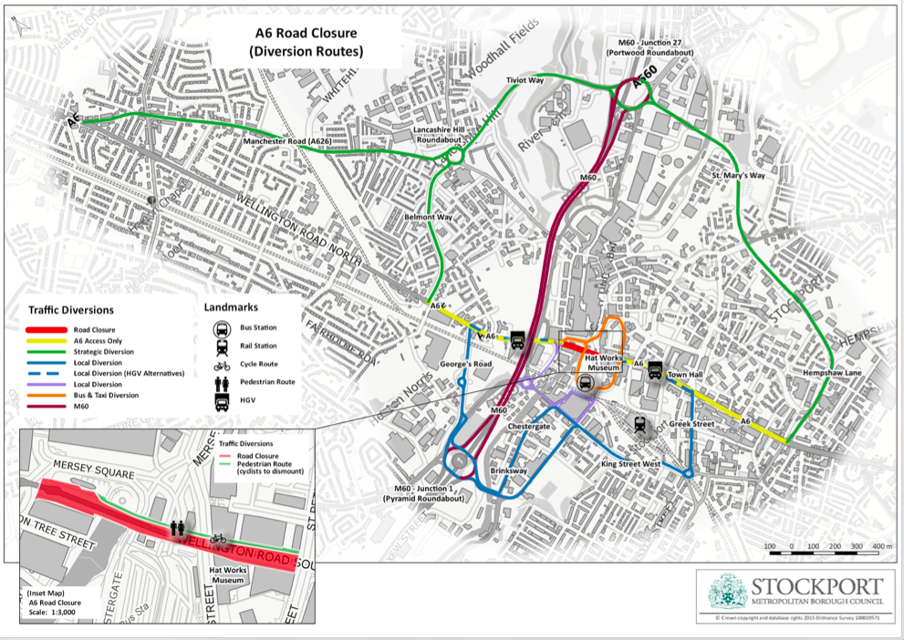 Update on A6 Stockport road closure in July