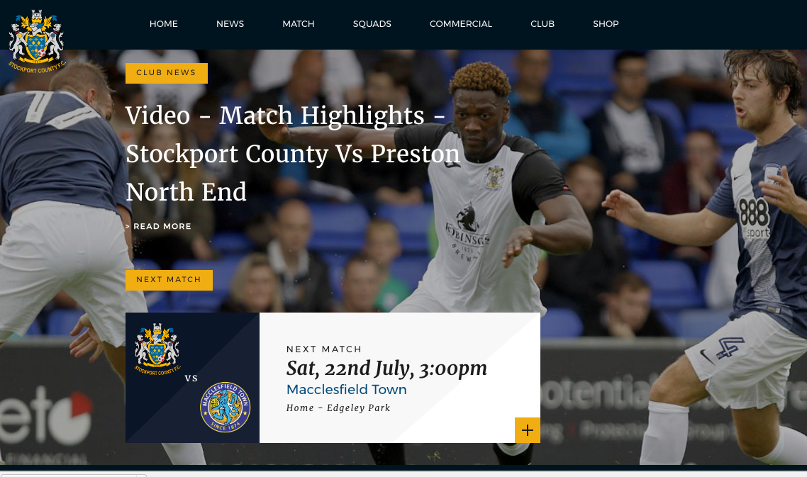 New website for Stockport County
