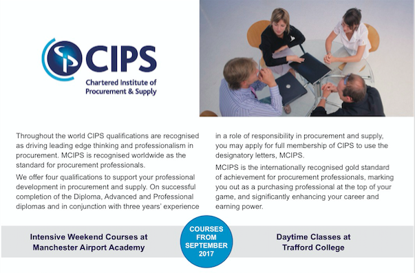 CIPS training to be launched by Stockport College