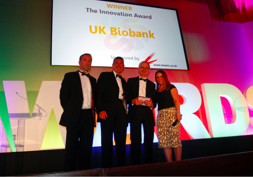 2016 innovation award winners UK Biobank