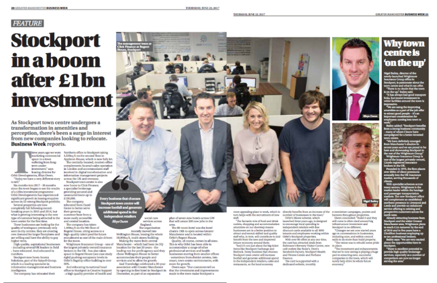 Business Week North West takes a look at what is happening in Stockport