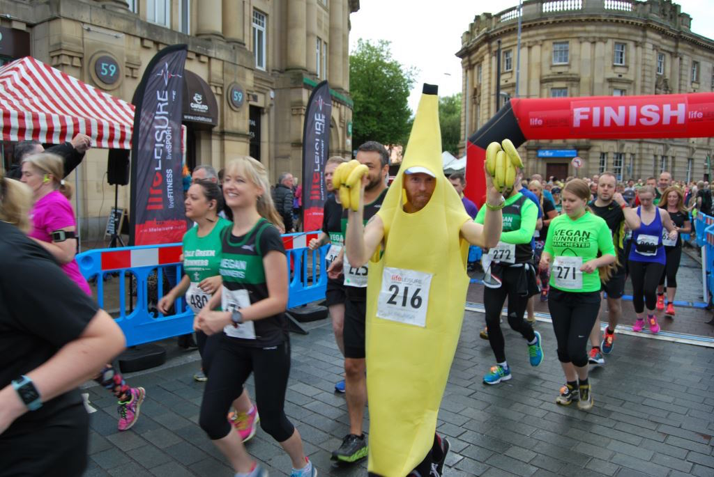 Banana man Dan Grundy adds to the fun at the Big Stockport Run