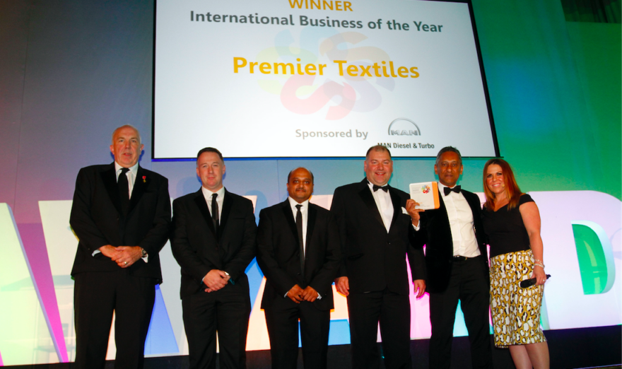 Stockport Business Award winners in 2016 for international trade were Premier Textiles