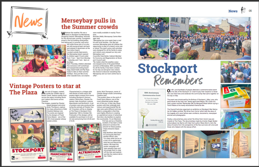 Totally Stockport magazine reports from Merseyway