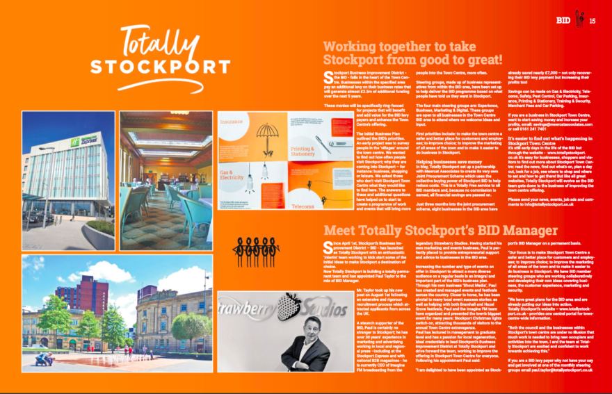 Totally Stockport magazine updates from the BID
