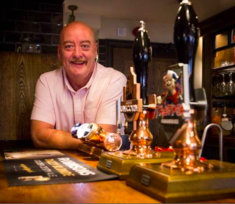 Paul Day, licensee of Robinsons the George & Dragon in Macclesfield