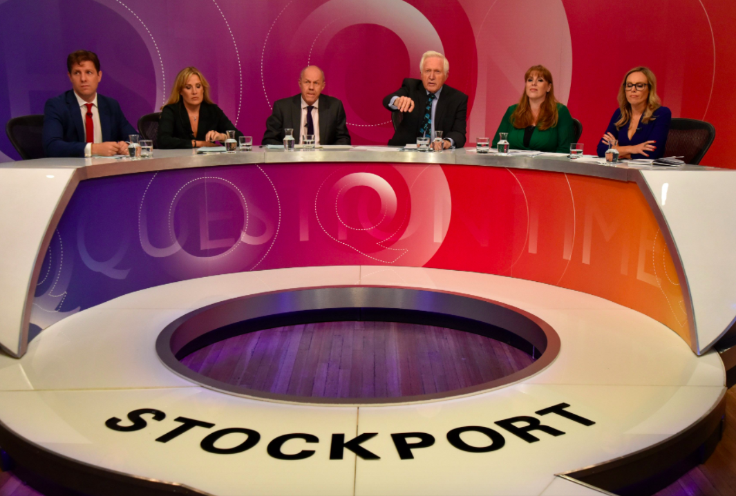 The BBC hosted Question Time in Stockport