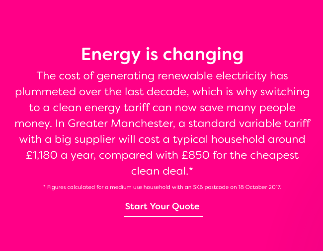 Green energy campaign launched in Greater Manchester