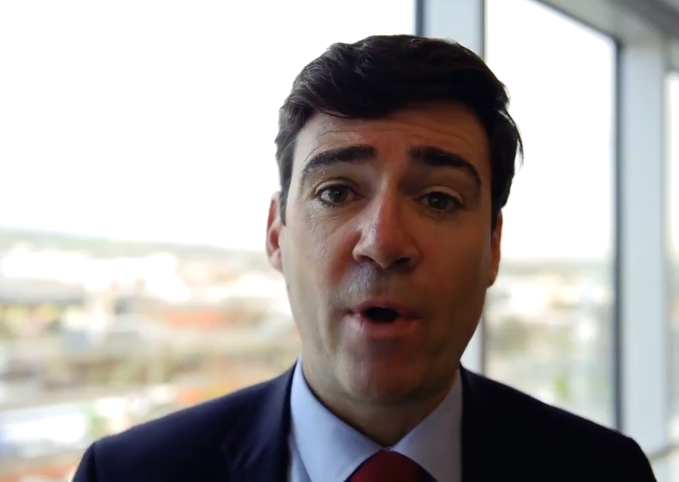 GM Mayor Andy Burnham launches the Town Centre Challenge