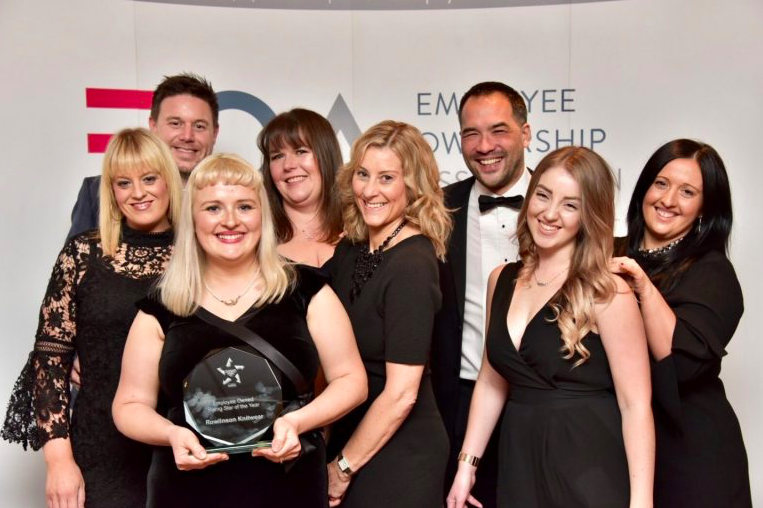 Rowlinson Knitwear winners at the Employee Owned awards 2017