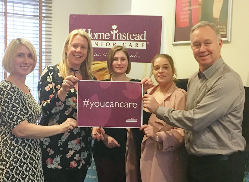 You Can Care - Kate Pearce (Training Officer), Clare Cliff (Head of CAREGiver Experience), Helen Yates (CAREGiver Support), Becci Wright (Client Care Support) and David Moore