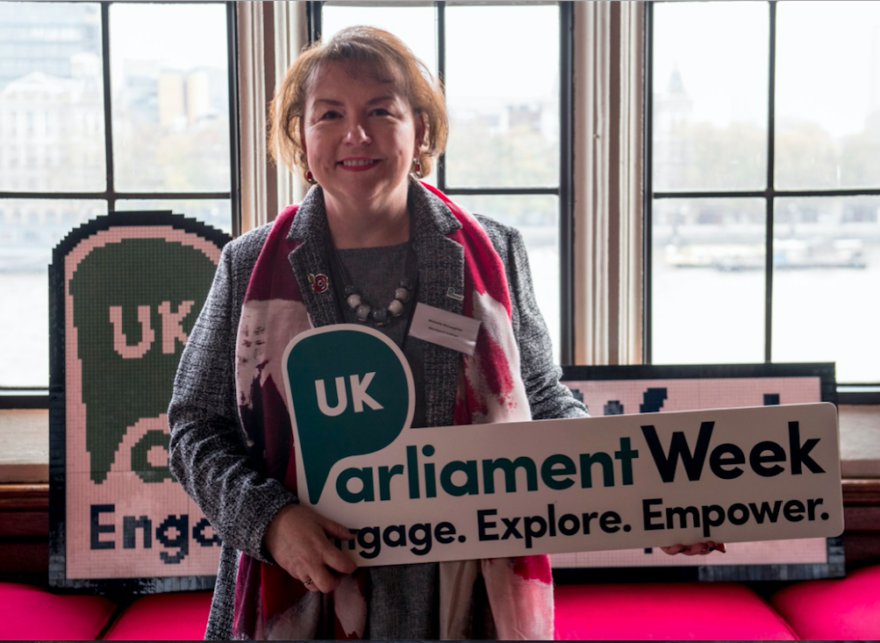 """Michelle McLaughlin, a Programme Coordinator at Stockport College, has been selected to attend the""""Teachers' Institute"""" at the Houses of Parliament."""