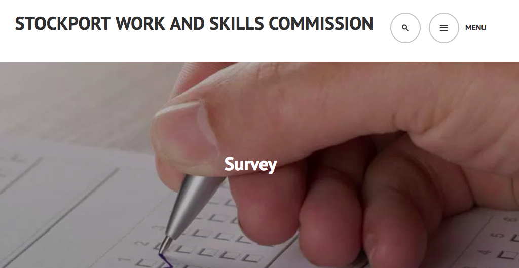 Stockport Work and Skills commission survey