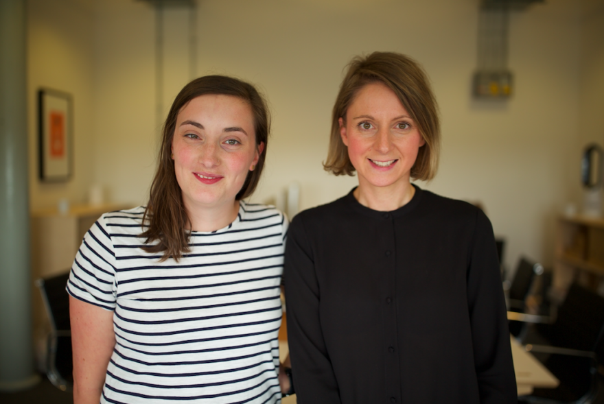 Stockport agency Trust's Rebecca Wakefield and Bethan Lumb, who join as Project Manager and Designer respectively.