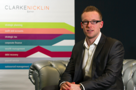 Stockport Accountants Clarke Nicklin are supporting The Christie after one of their team, Adam Burke received treatment there