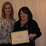 Yvonne Davenport winner of the Inspirational Leader award with Annabelle Tiffin