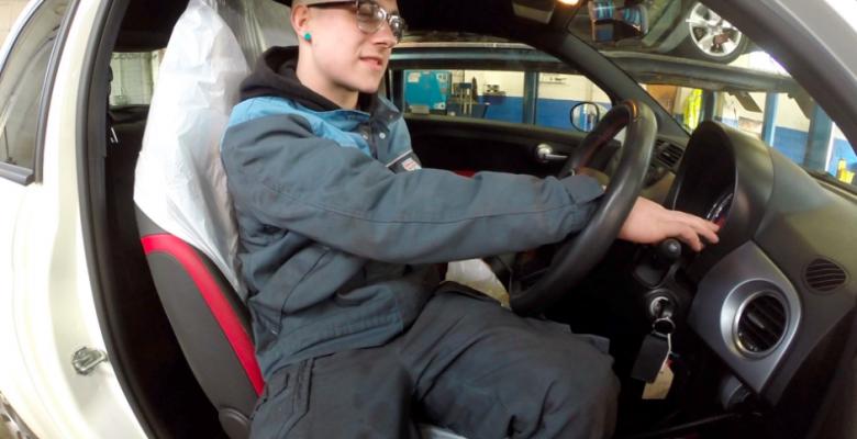 John Delaney celebrate National Apprenticeship week with their apprentice Mechanic